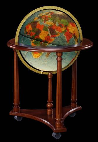 Lafayette illuminated floor stand world globe by for Illuminated floor